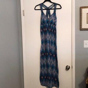 T strap cotton sleeveless full length dress